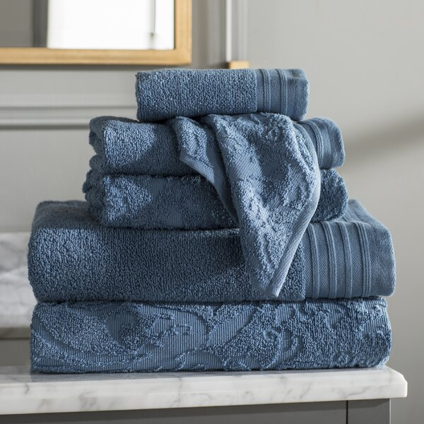 Jarred 6 Piece 100% Cotton Towel Set by Willa Arlo Interiors